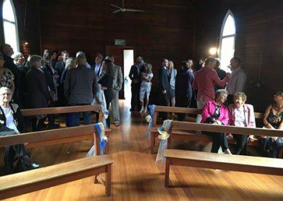 mhairi and jason leaning church